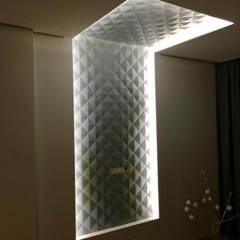 3D siena ir LED apsvietimas 6w