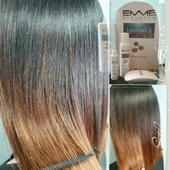 OZONO TERAPIJA I-POTION 3 Jūsų plaukams!!! Emmediciotto laboratorija sukūrė inovacinį produktą, kuris grąžina plaukams spindesį, elastingumą ir sveiką išvaizdą.