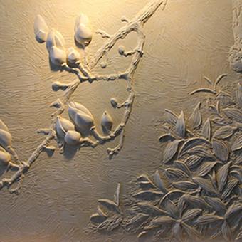Augalinio motyvo dekoras, puikiai tinka interjero puošybai