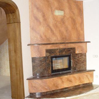 Židinio apdaila- dekoras, lietuvškas granitas