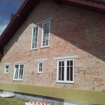 Fasado siltinimas naudojant 150 mm mineraline vata Paroc.