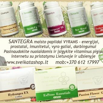 Santegra maisto papildai sanariams, kaulams, dantims, dantenoms, raumenims, nagams, plaukams, raiščių ir kremzlių funkcijai. Geriausi pasiūlymai draugams :)