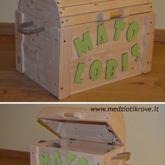 Įvairios medinės žaisladėžės su logotipu ar norimu užrašu