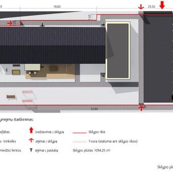 Vaikų namų Lapių k. sklypo 3D planas