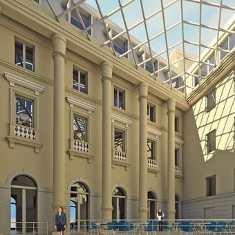 Viktorijos viešbučio pritaikymas Klaipėdos miesto savivaldybei, interjero vizualizacija