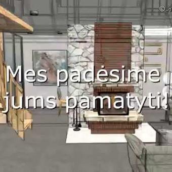Trumpa videoprezentacija: svečių namelio 3D projektas.