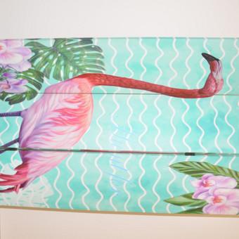 """Fotosienelė / širma """" Flamingai"""""""