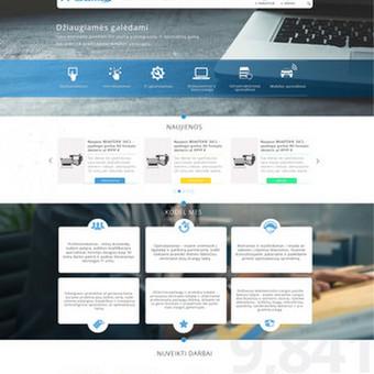 Internetinio puslapio dizainas ITgama