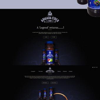 Internetinio puslapio dizainas Armada