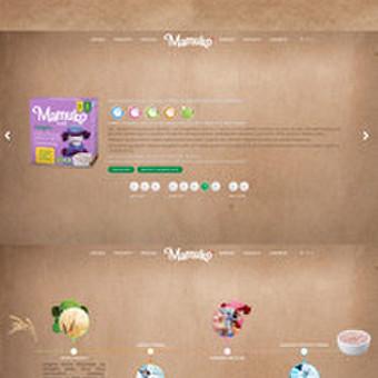 Internetinio puslapio dizainas Mamuko