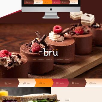 Internetinio puslapio dizainas Bru