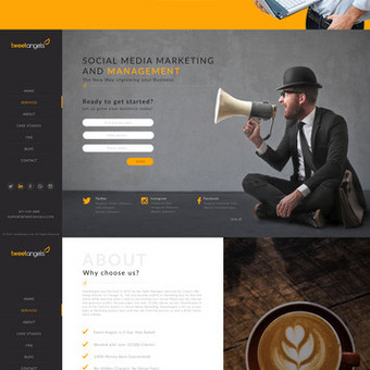 Internetinio puslapio dizainas TweetAngels