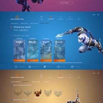 Internetinio puslapio dizainas LOL-ACCOUNT