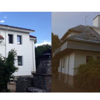 Renovuotas namas Kaune su stogo konstruktyviniais pakitimais. Darbų trukmė  23 d.d.