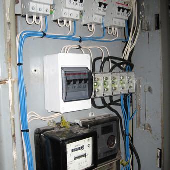 Daugiabučio gyvenamojo namo elektros apskaitos skydas (po atnaujinimo).