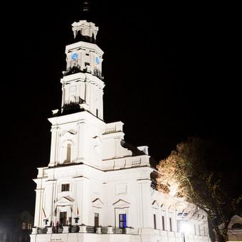 Kauno Rotušė naktį