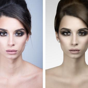 "Foto:MorganSMN Portreto retušas - ""prieš"" ir ""po""."