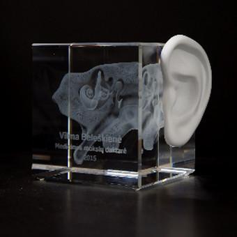 3D Graviravimas viduje stiklo