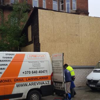 Avarinio pastato tvirtinimas ir konservavimas.