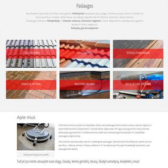 Reprezentacinė svetainė www.arga.lt specializuotai valymo ir padengimo paslaugas teikiančiai įmonei