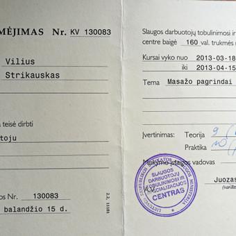 Masažo paslaugos Vilniuje / Vilius Strikauskas / Darbų pavyzdys ID 238935