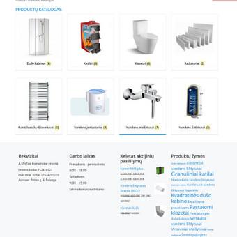 Statybinėmis medžiagomis ir santechnika prekiaujančios įmonės internetinė svetainė www.statybines-medziagos.eu su internetine parduotuve.