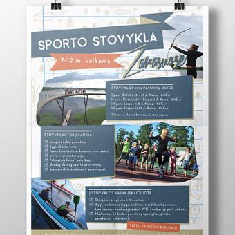 Plakatas vaikų sporto stovyklai I