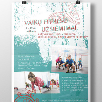 Plakatas vaikų sporto stovyklai II