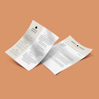 CV dizainas I