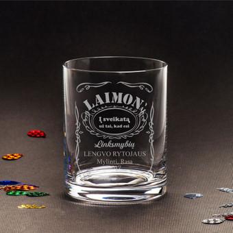 Vardinė viskio stiklinė gimimo dienos, bernvakario, boso dienos ar jubiliejaus proga.