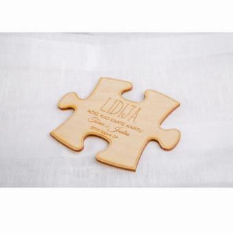 Stalo kortelė - dėlionė su magnetu