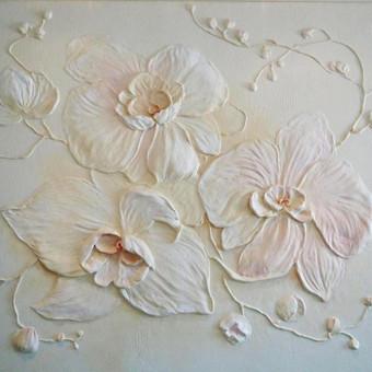 Orchidėjos, sienų dekoras