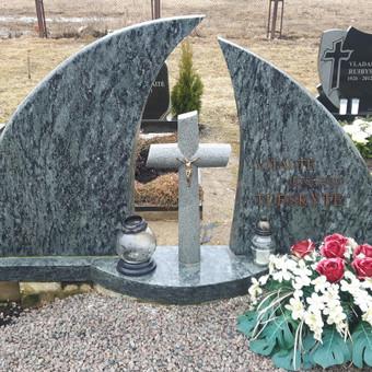 Paminklai, antkapiai, granito plokštės kapo dengimui . . / Anicetas Senulis / Darbų pavyzdys ID 245977