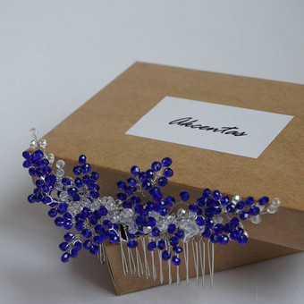 Akcentas accessories plaukų aksesuaras / Karališka mėlyna / Mėlynas akcentas / Šukytės