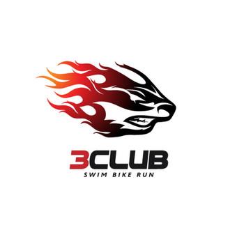 3Club - swim bike run  |   Logotipų kūrimas - www.glogo.eu - logo creation.