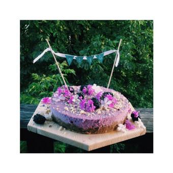 Veganiškas, be gliuteno, mėlynių tortas