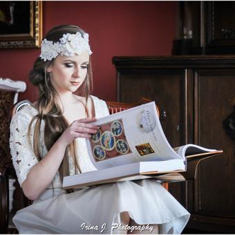 Idėjinė fotosesija, su profesionaliu makiažu, įvaizdžio kūrimu, retro stiliumi, aplinka dvaras.