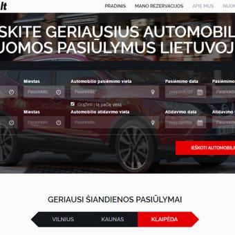 Automobilių rezervacijos platforma.