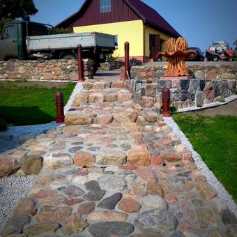 Akmens mūro darbai, Šlaitų ir pakrančių tvirtinimas.Atramine / Saulius / Darbų pavyzdys ID 253497