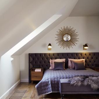 Miegamojo lova pagaminta pagal individualų projektą.