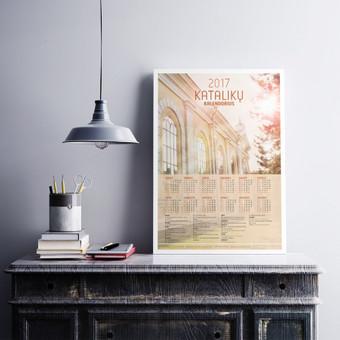 Religinio kalendoriaus dizaino sukūrimas ir parengimas spaudai.