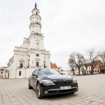 Automobilių nuoma / BMW 750IL JUODAS / Darbų pavyzdys ID 256093