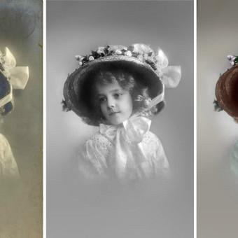 senos nuotraukos restauravimas ir spalvinimas