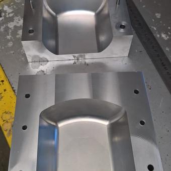 3D forma iš aliuminio tiesiai nuo staklių (nepoliruota)