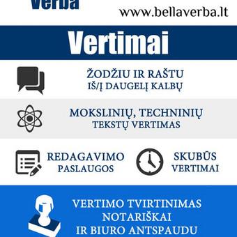 Vertimas iš/į 120 kalbų, individualūs kalbų kursai / UAB Bella Verba / Darbų pavyzdys ID 258043