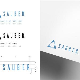 Logotipas Sauber LT įmonei.