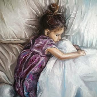 """Angels sleep tonight"" 40x50 cm"