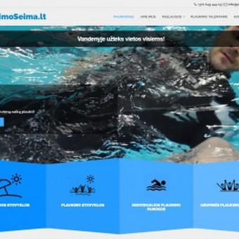 Interneto svetainė plaukimo mokyklai. Modernus, lengvas dizainas, puikiai derintis prie įmonės veiklos.
