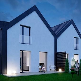 Gyvenamųjų namų kvartalo vizualizacijos