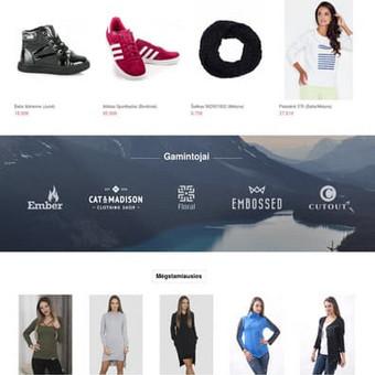 Internetinių svetainių | El-parduotuvių kūrimas Jūsų mieste / Jonas Urbonas / Darbų pavyzdys ID 264163